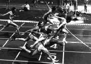 Gilbert Guerin when a sprinter at national level - here winning a race