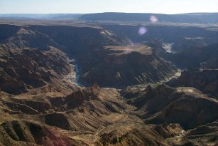 Fish River Canyon in Namibia - the second largest canyon in the World